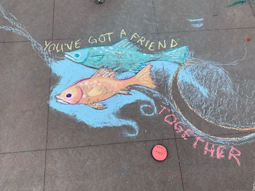 Chalk art by Tim Young.