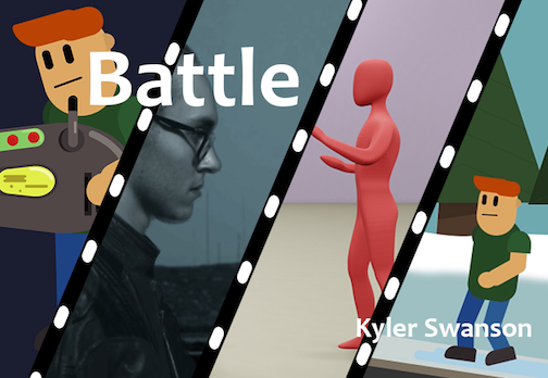 "Kyler Swanson created a series of short animations entitled ""Battle"" for his Senior Show at the Tweed Museum of Art in Duluth."