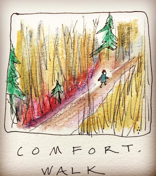 """Comfort. Walk,"" by Betsy Bowen."