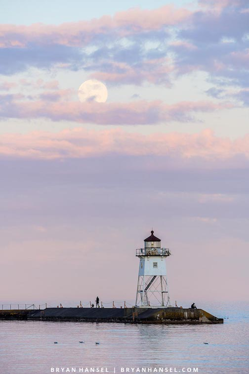 Social distancing at the full Flower Moon by Bryan Hansel.