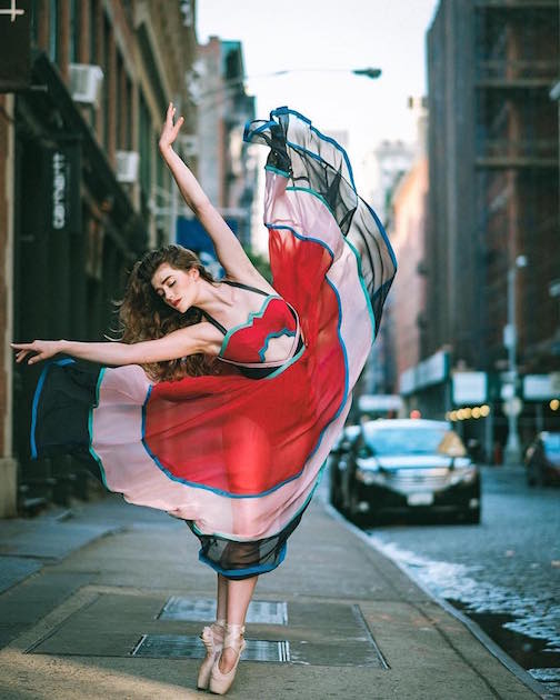 Omar Z Robles took ballet dancers to the streets in New York.