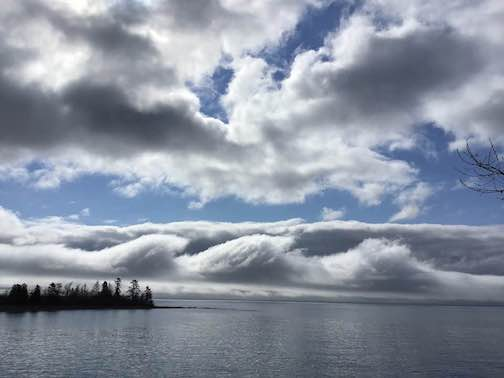 Amazing clouds this morning. Be kind today. Photograph by Debbie Benedict.