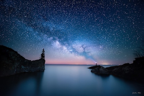Milky Way just before Moonrise by Justin Vrbra.