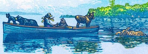 Duluth printmaker Rick Allen has just produced a new Trapper's Daughter print: Safe Passage.