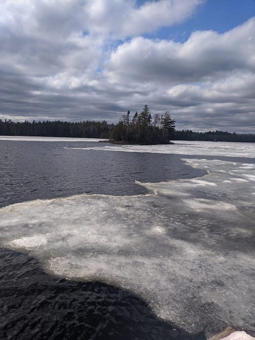 Ice out by the weekend. Photo courtesy of Sawbill Canoe Outfitters.