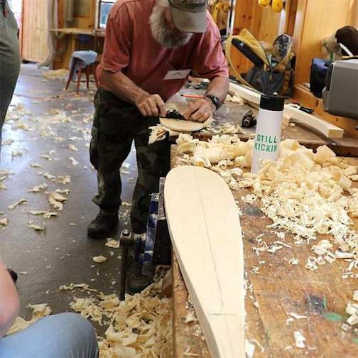 Mike Schelmeske is one of the North House instructors who will give a live, online demonstration during the Wooden Boat Show.