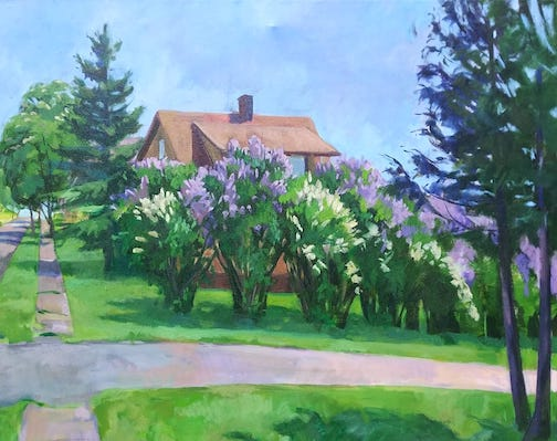 From Two Harbors--Just Before the Lilacs Disappear by Arna Rennan.