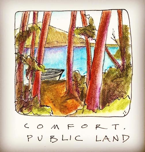 Comfort. Public land for everyone. By Betsy Bowen.