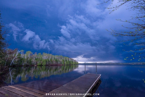 Thunderstorm over Elbow Lake by Bryan Hansel.