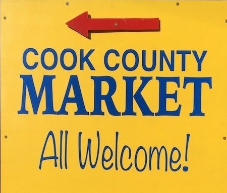 The Cook County Market runs from 10 a.m. to 2 p.m. on Saturdays through Oct. 17.