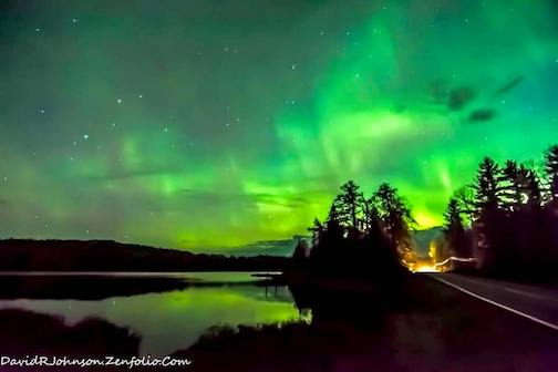 The northern lights from here by David Johnson.