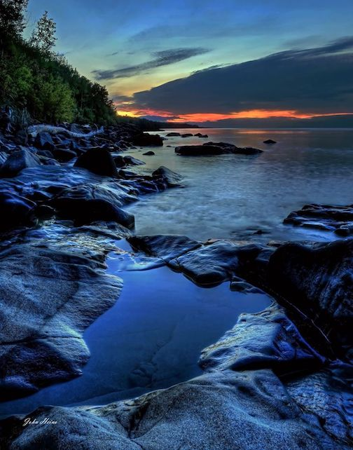 Peace and Quiet. Lake Superior by John Heino.