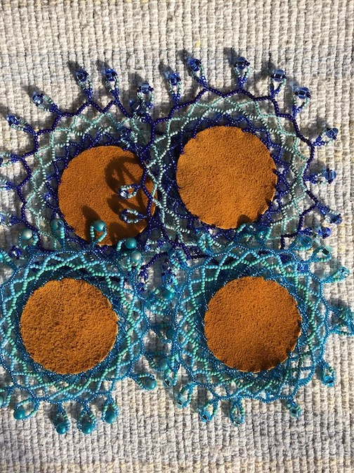 Mini-doilies by Marcie McIntire.