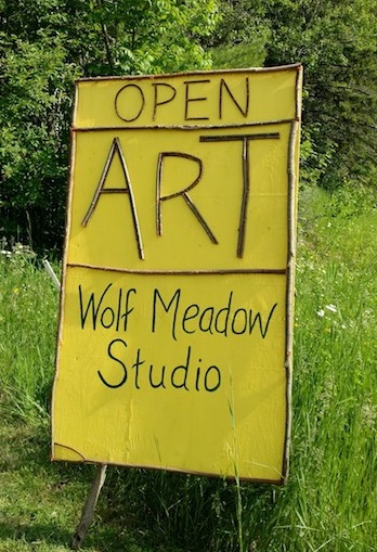 Paula Sundet Wolf's studio is located at 503 Caribou Trail in Lutsen.