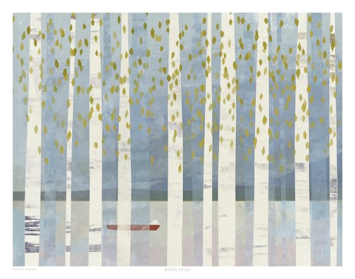 The Big Birch Loom, a print by Jordan Sundberg, is one of the artworks on exhibit at the Big Lake.
