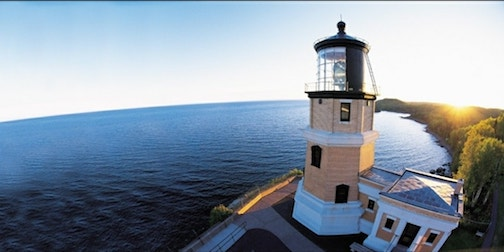 Split Rock Lighthouse has opened for the season with Covic-19 protocols in place. Photo courtesy of MPR News.