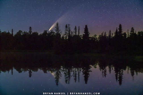 Comet NEOWISE over Devil Track Lake.