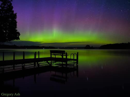 Northern Lights from Ely, featured on Spaceweather.com by Greg Ash.
