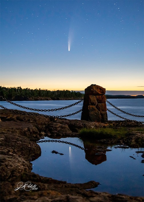 Comet from Gooseberry Falls by Jamie Rabold.