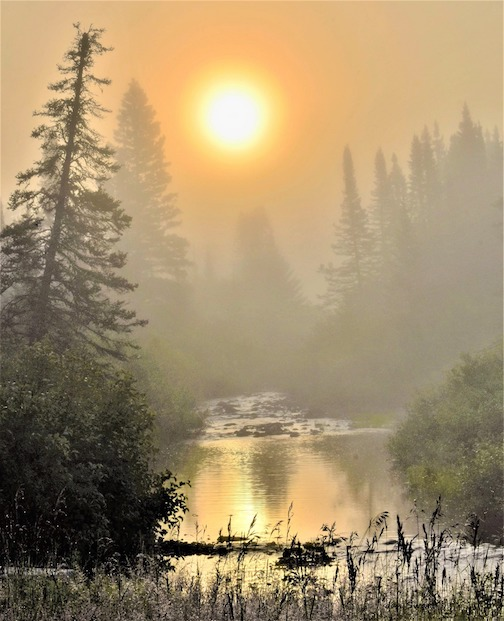 Cloquet River Sunrise by Jan Swart.
