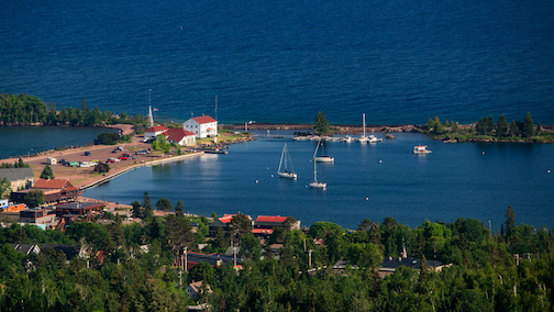 Grand Marais in summer by Mark Tessier.