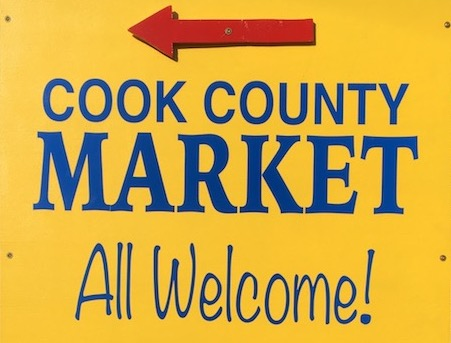 The Cook County Market, which is held in the parking lot of The Hub, is open from 9 a.m. to 1 p.m. Saturdays through Oct. 17.