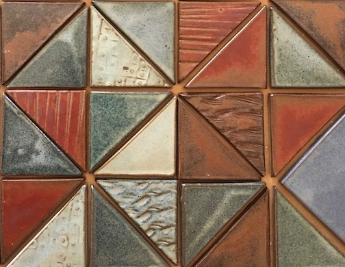 A few of the tiles from Melissa Wickwire's latest tile project.  See more at www.wickwireclayworks.com