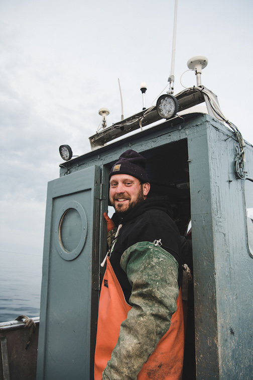 Eric Brisson, one of the fishermen at the North Superior Fishery, ready to go to work. Photo by Vic Campbell.