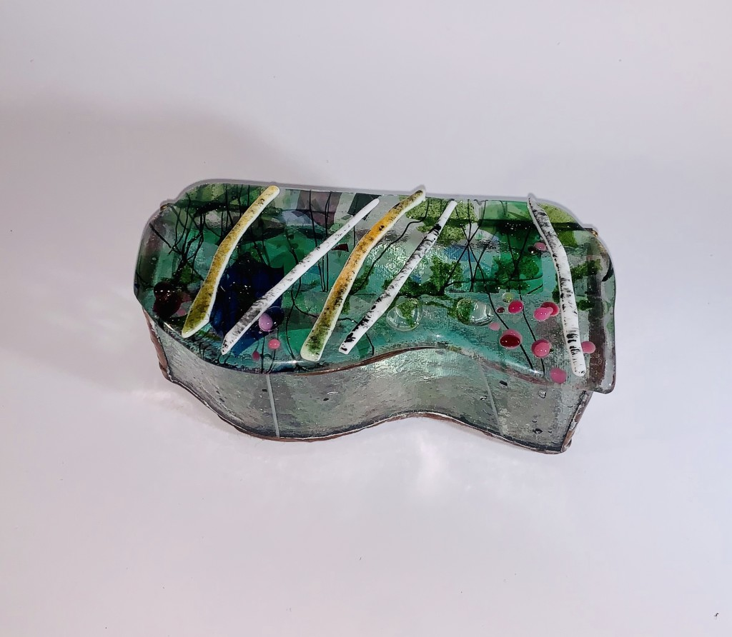Fused glass box by Tony Rau, tonyrau@comcast.net