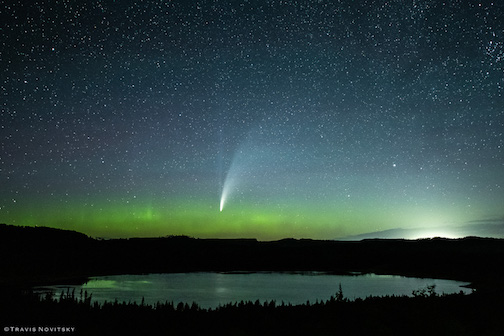 A little aurora and a comet by Travis Novitsky,