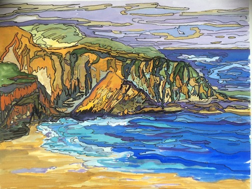 """The Bay,"" giclee print by Marcia Cushmore, is one of the work on exhibit at the Johnson Heritage Post this month."