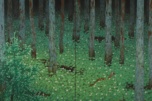 """""""Forest,"""" by Katayama -Bokuyō, 1928, is one of the paintings on exhibit at the Minneapolis Institute of Art."""