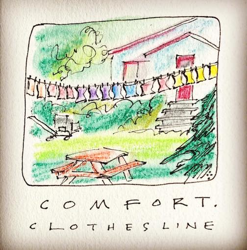 Comfort. The Clothesline by Betsy Bowen.