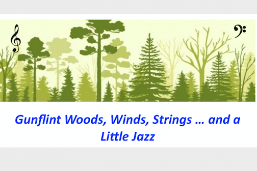 Woods, Winds, Strings & A Little Jazz concert, a fundraiser for the Gunflint Trail Volunteer Fire Department will be virtual this year. See below for more information.