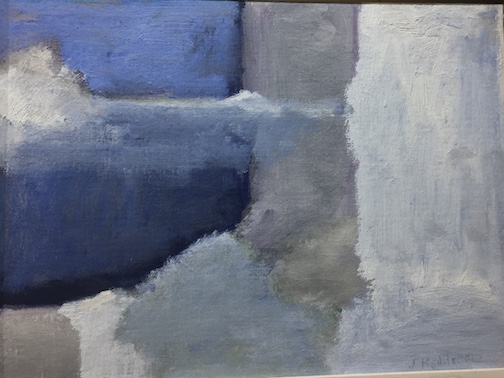 Blue Landscape Abstract by Jeanne Hedstrom is at Yellow Bird Fine Art.