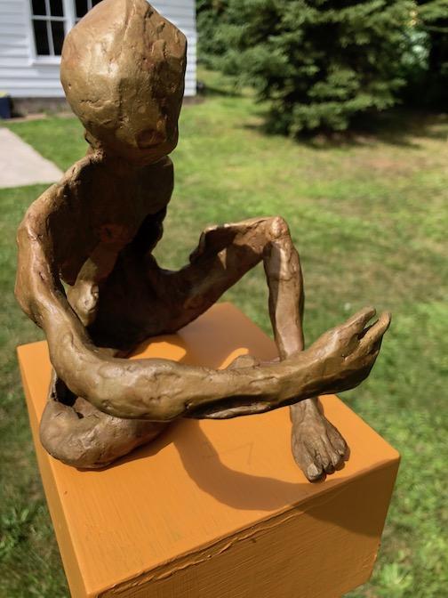 John Books' outdoor sculpture exhibit was a great success last weekend. He exhibited a number of bronze sculptures.