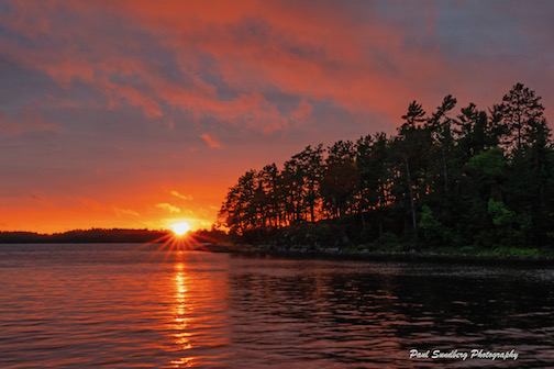BWCAW Sunset by Paul Sundberg.