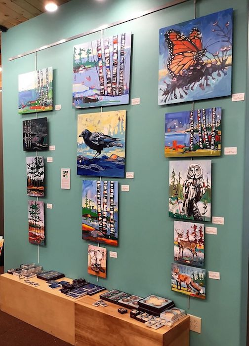 Painter Adam Swanson has a wall of new work at Sivertson Gallery.