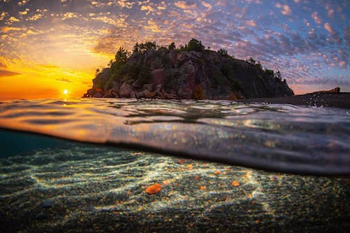 An incredible sunrise by Christian Dalbec.