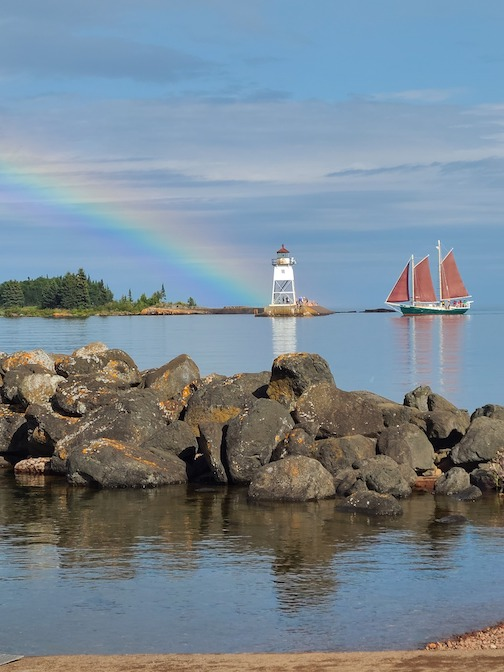 This is the last weekend to book at sail on The Hjordis. Photo courtesy of North House Folk School.