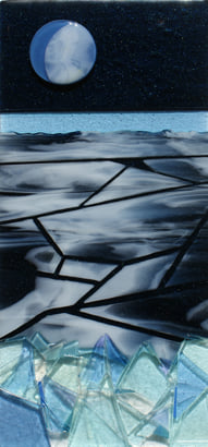 Superior Icescape, fused glass by Sharon Frykman.