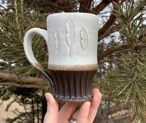 Leaf mug by Hannah Palma Laky.