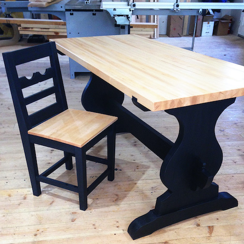 Jim Sannerud designs and makes furniture.