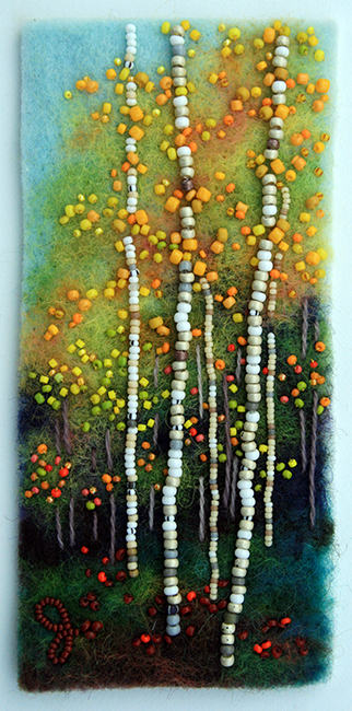Autumn Color, beadwork by Jo Wood.