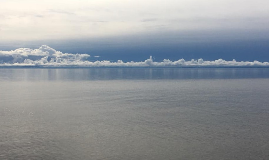 Clouds over Lake Superior by Trish Francis.