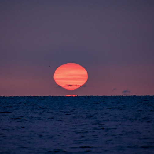 Hot air balloon sunrise by Wayne Ortloff.