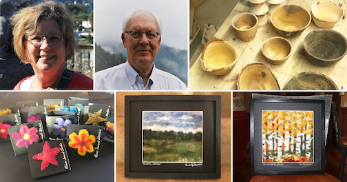 Bonnie Gay and Howard Hedstrom are the featured artists at the North Shore Winery's outdoor event on Saturday.