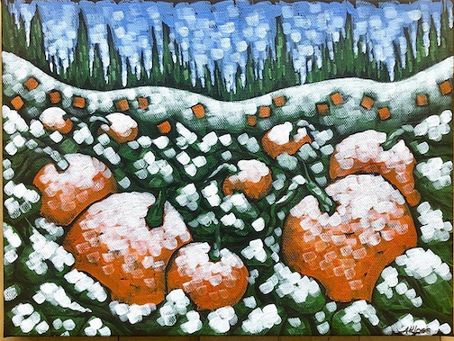 Daily painting: First Snow by Aaron Kloss.
