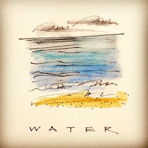 """""""Water,"""" by Betsy Bowen, from her Letter """"W"""" series on the Apostle Islands."""