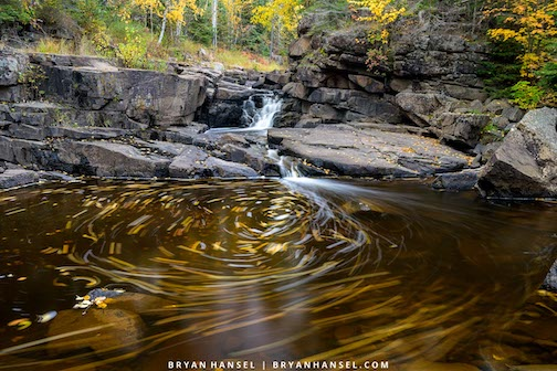 Leaves in the eddy by Bryan Hansel.